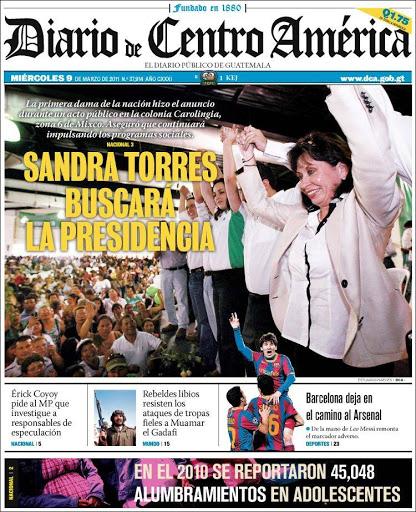 Berita Headline Dari Diario de Centro Amerika, Guatemala